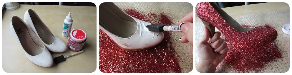 А для смілих та екстравагантних жінок підійде варіант із повним покриттям  блискітками. Просто нанесіть клей на усю поверхню взуття та ретельно  посипте ... b1533da6384ad